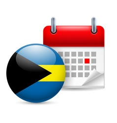Icon of national day in the bahamas vector image