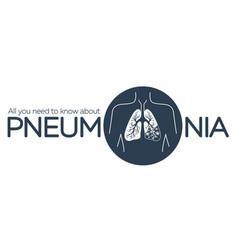 Information banner pneumonia vector