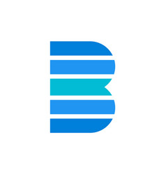 letter b logo concept icon vector image