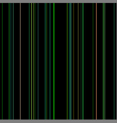 line seamless pattern color lines on black vector image