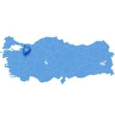 Map of Turkey Bilecik vector image