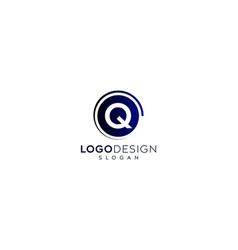 Minimalist letter q logo design vector