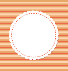 mockup greeting card round ornamental frame vector image