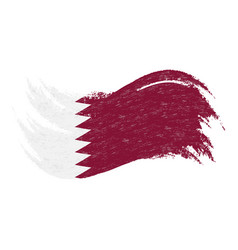 National flag of qatar designed using brush vector