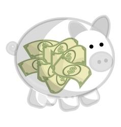 Piggy money saving icon flat design vector