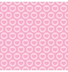 Pink heart seamless pattern vector