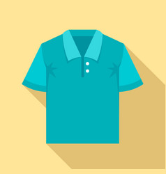 polo tshirt icon flat style vector image