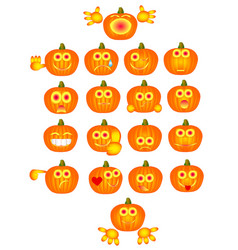 pumpkin smiles vector image