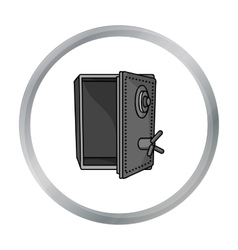 Safe icon in cartoon style isolated on white vector image vector image