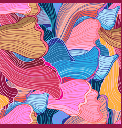 seamless bright abstract wavy pattern vector image