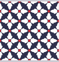 seamless pattern with geometric stylized flowers vector image