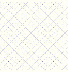 seamless rhombus pattern with dotted lines vector image