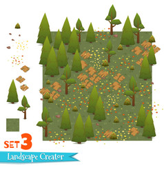 Set of forest landscape vector