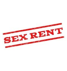 Sex rent watermark stamp vector