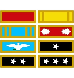 The insignia of the us army during the civil war vector