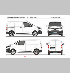Toyota proace cargo compact van l1 2016-present vector