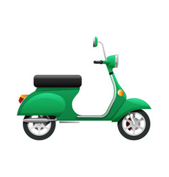 Transport of isolated green scooter vector