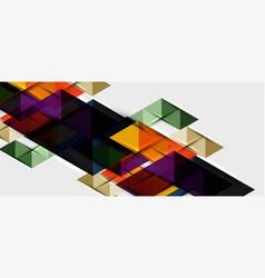triangle geometrical modern business presentation vector image