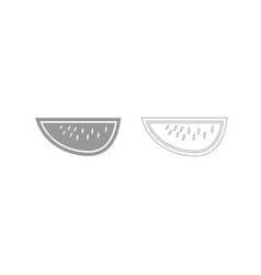 watermelon grey set icon vector image