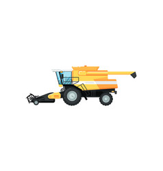 agriculture combine harvester vector image vector image