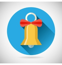 Bell with Ribbon Bow Icon vector image vector image