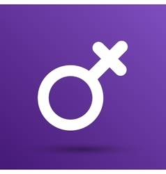 Female sign icon woman gender feminine vector image vector image