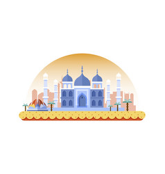 india icon in flat style vector image