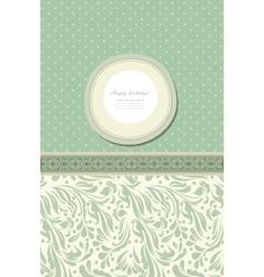 Retro fashion floral greeting card vector image vector image