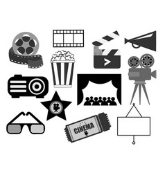 elements in black and white for design vector image