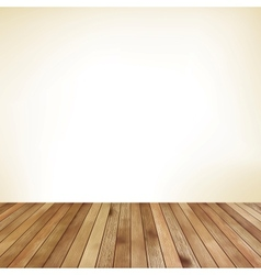 Empty room with wall and wooden floor EPS 10 vector image