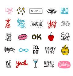 friendship party artwork set vector image vector image