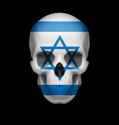 Israeli flag skull vector