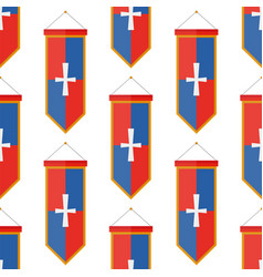 Knights flags medieval weapons heraldic knightly vector