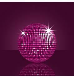 purple disco ball vector image