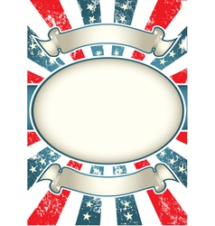 vintage usa background vector image vector image