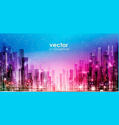 city night skyline vector image vector image