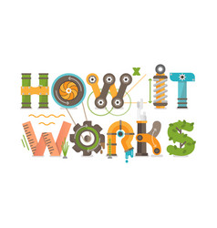 conceptual how it works vector image