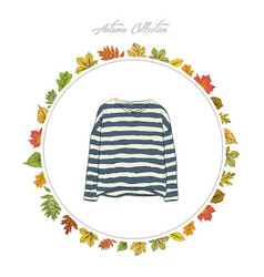pullover hand draw clothes autumn collection vector image