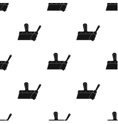 Putty knives icon in black style isolated on white vector