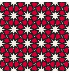 Seamless islamic interlacing line star vector