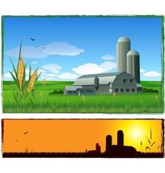 farm harvest background vector image