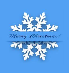 greeting card - winter snowflake vector image