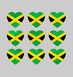 heart with jamaican flag i love jamaica vector image