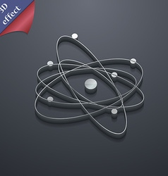 physics atom big bang icon symbol 3D style Trendy vector image