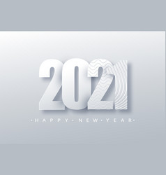 2021 happy new year background number paper vector image