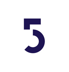 5 number five logo icon vector image