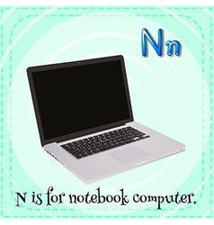A letter N vector