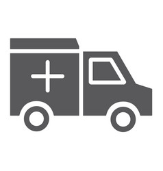ambulance car glyph icon medical and emergency vector image