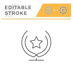 Award statue line icon vector