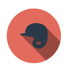 baseball helmet icon vector image